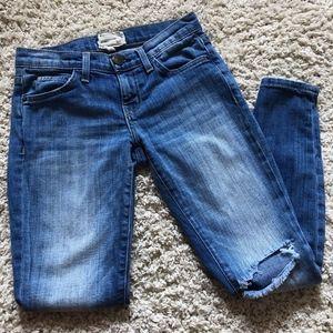 Current/Elliot Distressed Skinny Jeans